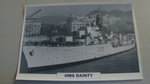 1950  HMS Dainty Destroyer warship framed picture